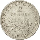 France, Semeuse, 2 Francs, 1905, Paris, VF(30-35), Silver, KM:845.1, Gadoury:532