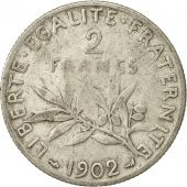 France, Semeuse, 2 Francs, 1902, Paris, VF(20-25), Silver, KM:845.1, Gadoury:532