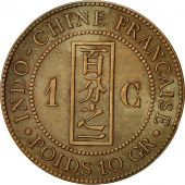 FRENCH INDO-CHINA, Cent, 1898, Paris, TTB+, Bronze, KM:1