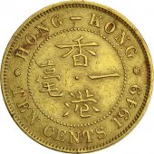 Hong Kong, George VI, 10 Cents, 1949, EF(40-45), Nickel-brass, KM:25