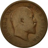 INDIA-BRITISH, Edward VII, 1/4 Anna, 1908, Calcutta, TTB, Bronze, KM:502