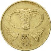 Chypre, 5 Cents, 1985, TTB, Nickel-brass, KM:55.2