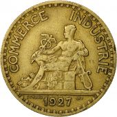 France, Chambre de commerce, 2 Francs, 1927, Paris, TTB, Aluminum-Bronze