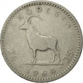 Rhodésie, Elizabeth II, 2-1/2 Shillings = 25 Cents, 1964, British Royal Mint