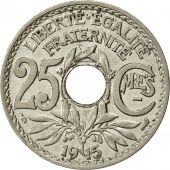 France, Lindauer, 25 Centimes, 1915, TTB, Nickel, KM:867