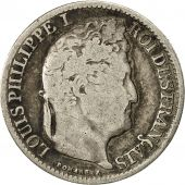 France, Louis-Philippe, 1/2 Franc, 1834, Lille, VF(30-35), Silver, KM:741.13