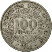 West African States, 100 Francs, 1968, TB, Nickel, KM:4