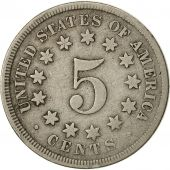 États-Unis, Shield Nickel, 5 Cents, 1867, U.S. Mint, Philadelphie, TB+