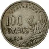 France, Cochet, 100 Francs, 1955, Paris, TB+, Copper-nickel, KM:919.1