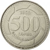 Lebanon, 500 Livres, 2006, SUP, Nickel plated steel, KM:39
