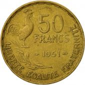France, Guiraud, 50 Francs, 1951, Paris, VF(30-35), Aluminum-Bronze, KM:918.1