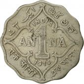INDIA-BRITISH, George V, Anna, 1918, AU(50-53), Copper-nickel, KM:513