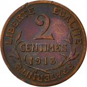 France, Dupuis, 2 Centimes, 1913, Paris, TTB, Bronze, KM:841