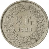 Suisse, 1/2 Franc, 1989, Bern, TB+, Copper-nickel, KM:23a.3
