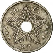 Congo belge, 10 Centimes, 1911, Heaton, TTB, Copper-nickel, KM:18