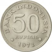 Indonesia, 50 Rupiah, 1971, VF(30-35), Copper-nickel, KM:35
