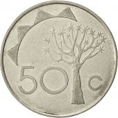 Namibia, 50 Cents, 1993, Vantaa, TTB, Nickel plated steel, KM:3