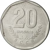 Costa Rica, 20 Colones, 1985, EF(40-45), Stainless Steel, KM:216.2
