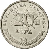 Croatie, 20 Lipa, 1995, TTB+, Nickel plated steel, KM:7