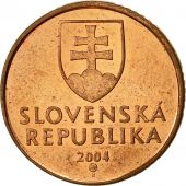 Slovaquie, 50 Halierov, 2004, TTB+, Copper Plated Steel, KM:35