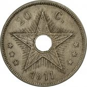 Congo belge, 20 Centimes, 1911, TB+, Copper-nickel, KM:19