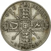 Coin, Great Britain, George V, Florin, Two Shillings, 1923, EF(40-45), Silver