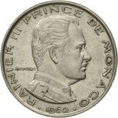 Coin, Monaco, Rainier III, Franc, 1960, VF(30-35), Nickel, KM:140, Gadoury:MC
