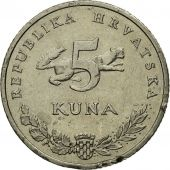 Monnaie, Croatie, 5 Kuna, 2001, B, Copper-Nickel-Zinc, KM:11
