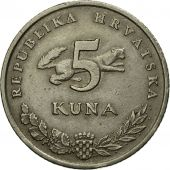 Monnaie, Croatie, 5 Kuna, 1994, TTB, Copper-Nickel-Zinc, KM:23