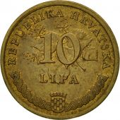 Monnaie, Croatie, 10 Lipa, 1999, TTB, Brass plated steel, KM:6