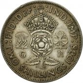 Coin, Great Britain, George VI, Florin, Two Shillings, 1938, EF(40-45), Silver