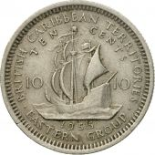 Coin, East Caribbean States, Elizabeth II, 10 Cents, 1955, EF(40-45)