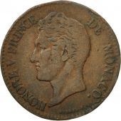 Coin, Monaco, Honore V, 5 Centimes, Cinq, 1837, Monaco, VF(20-25), Copper