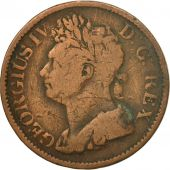 Coin, Ireland, 1/2 Penny, 1822, VF(30-35), Copper, KM:150
