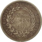 Monnaie, Martinique, 50 Centimes, 1897, Paris, B+, Copper-nickel, KM:40
