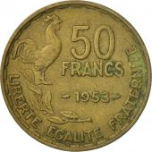 Coin, France, Guiraud, 50 Francs, 1953, Paris, VF(20-25), Aluminum-Bronze