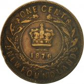 Coin, NEWFOUNDLAND, Cent, 1876, Royal Canadian Mint, EF(40-45), Copper