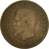 Coin, France, Napoleon III, Napoléon III, 2 Centimes, 1855, Paris, VF(30-35)