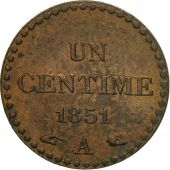 Coin, France, Dupré, Centime, 1851, Paris, AU(50-53), Bronze, KM:754