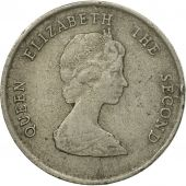 Coin, East Caribbean States, Elizabeth II, 25 Cents, 1987, VF(20-25)