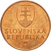 Monnaie, Slovaquie, 50 Halierov, 2007, TTB+, Copper Plated Steel, KM:35