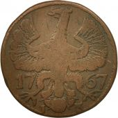 Coin, German States, AACHEN, 12 Heller, 1767, EF(40-45), Copper, KM:51