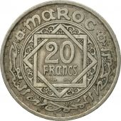 Monnaie, Maroc, Mohammed V, 20 Francs, 1366, Paris, TTB, Copper-nickel, KM:45
