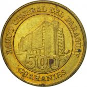 Coin, Paraguay, 500 Guaranies, 2002, EF(40-45), Brass plated steel, KM:195