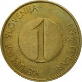 Coin, Slovenia, Tolar, 1995, EF(40-45), Nickel-brass, KM:4