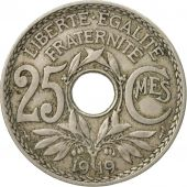 Coin, France, Lindauer, 25 Centimes, 1919, Paris, EF(40-45), Copper-nickel