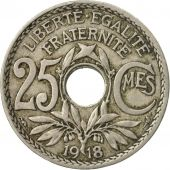 Coin, France, Lindauer, 25 Centimes, 1918, EF(40-45), Copper-nickel, KM:867a, Le