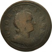 Coin, Great Britain, George I, 1/2 Penny, 1724, VG(8-10), Copper, KM:557