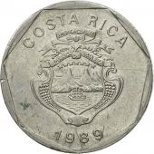 Coin, Costa Rica, 5 Colones, 1989, EF(40-45), Stainless Steel, KM:214.1