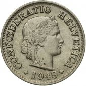 Coin, Switzerland, 5 Rappen, 1949, 1949, EF(40-45)